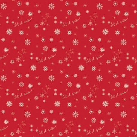 tissu patchwork de noël rouge