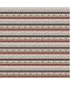 tissu patchwork de Noël sur fond gris beige rayé