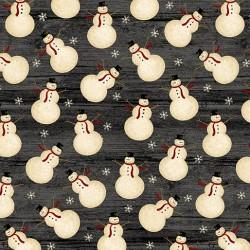 tissu patchwork de Noël imprimé bonhomme de neige