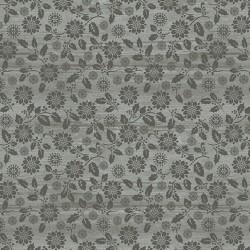 tissu patchwork fleuri gris imprimé ton sur ton