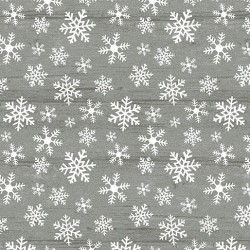 tissu patchwork imprimé cristaux de givre sur fond gris