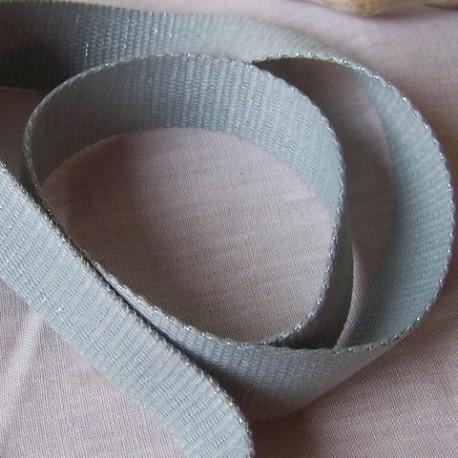 sangle coton gris bleu avec des pailletes