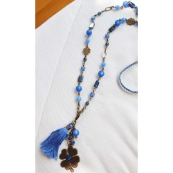 Sautoir bleu