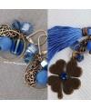 Boucles d'oreilles bleu