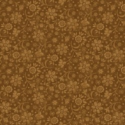 tissu patchwork fleuri ton sur ton coloris or
