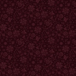 tissu patchwork fleuri ton sur ton coloris raisin