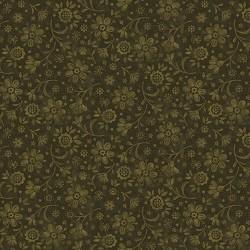 tissu patchwork fleuri ton sur ton coloris vert