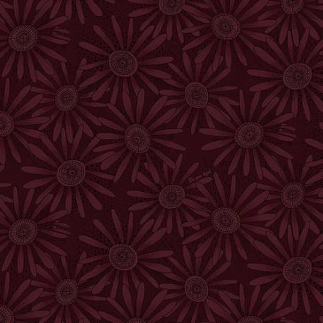 tissu patchwork fleuri violet raisin ton sur ton