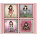 Gorjuss, tissu patchwork collection Truly Gorjuss, panneau d étiquettes