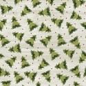tissu patchwork imprimé sapins de noël sur fond clair