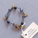 Bracelet bleu montana étoiles, vieil or