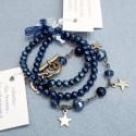 ensemble de 3 bracelets bleu montana foncé