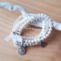 ensemble de 4 Bracelets coloris Cristal et blanc anis et bergamote