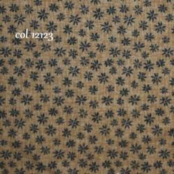tissu patchwork fleuri bleu
