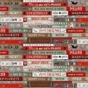 tissu patchwork de Noël, suite d'étiquettes à messages