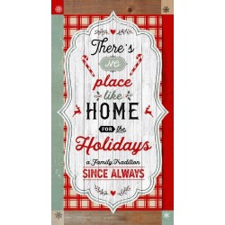 tissu patchwork de Noël, en panneau