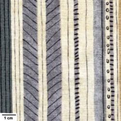 tissu patchwork à rayures gris bleu