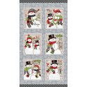 tissu patchwork de Noël, panneau d'étiquettes