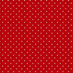 Tissu patchwork rouge à pois collection sewing mends the soul 9234-88