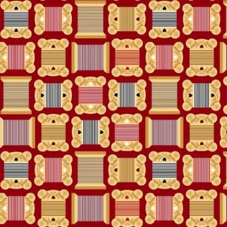 Tissu patchwork imprimé thème couture collection sewing mends the soul 9235-88