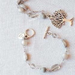 Bracelet gris anis et bergamote