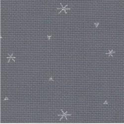toile aida 8 sparkle anthracite avec des étoiles ref 7459