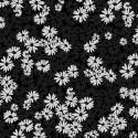 tissu patchwork fleuri noir
