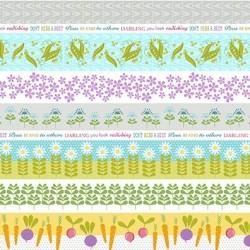 tissu patchwork avec des légumes