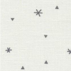 toile Belfast sparkle blanche avec des étoiles ref 1369