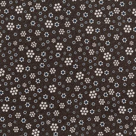 tissu patchwork fleuri foncé collection Peacock Manor Lynette Anderson