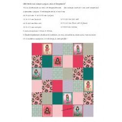 tuto gratuit, patchwork à réaliser avec le panneau Gorjuss