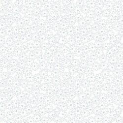 tissu patchwork blanc avec des fleurs