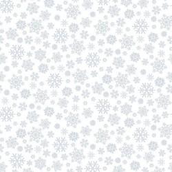 tissu patchwork blanc avec des cristaux de givre Henry glass