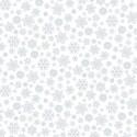 tissu patchwork blanc avec des flocons
