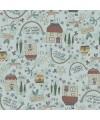 tissu patchwork avec des maisons collection lynette Anderson