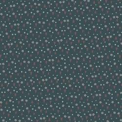tissu patchwork collection Sunshine after the rain de Lynette Anderson vert avec des coeurs