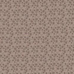 tissu patchwork collection Sunshine after the rain de Lynette Anderson, fleuri sur fond marron