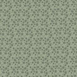 tissu patchwork collection Sunshine after the rain de Lynette Anderson, fleuri sur fond vert