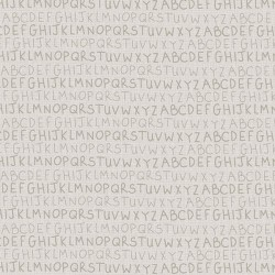 tissu patchwork collection Sunshine after the rain de Lynette Anderson, alphabet fond clair