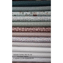 Tissus patchwork de la Collection sunshine after the rain de Lynette Anderson lot de 12 coupons