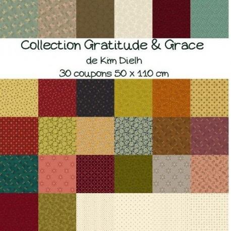 Gratitude & Grace Kim Dielh collection complète 30 coupons 10 X 110 cm
