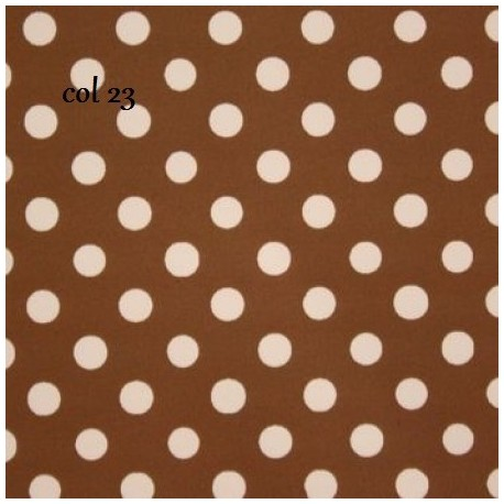 tissu patchwork à pois marron