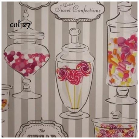tissu patchwork imprimé boite à bonbons Dotties Sweet Shop