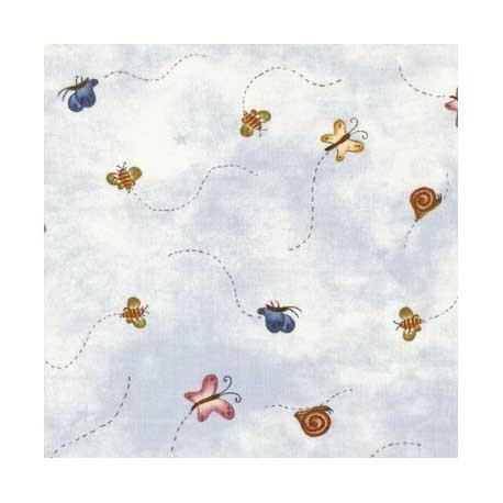 tissu patchwork imprimé papillons