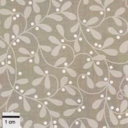 tissu patchwork de noël avec des branches de gui
