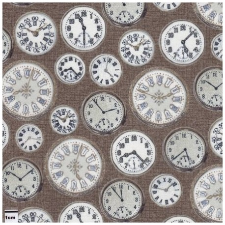 tissu patchwork imprimé de montres