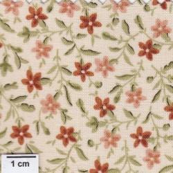 tissu patchwork Fleuri orange