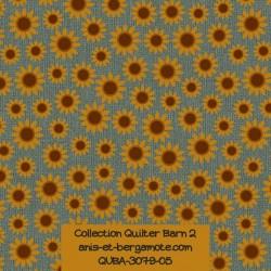tissu patchwork-collection quilter barn 3079-05 fleurs de tournesol