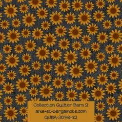 tissu patchwork-collection quilter barn 3079-12 fleurs de tournesol