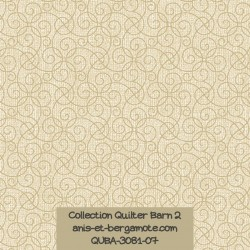 tissu patchwork-collection quilter barn 3081-07 faux uni beige